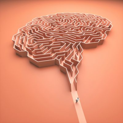 Brain,Shaped,Maze.,Conceptual,Image,Of,Science,And,Medicine.,3d